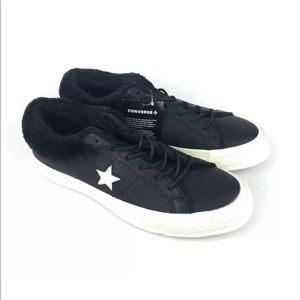 Converse One Star Ox Leather Fuzzy Shoes Sneakers